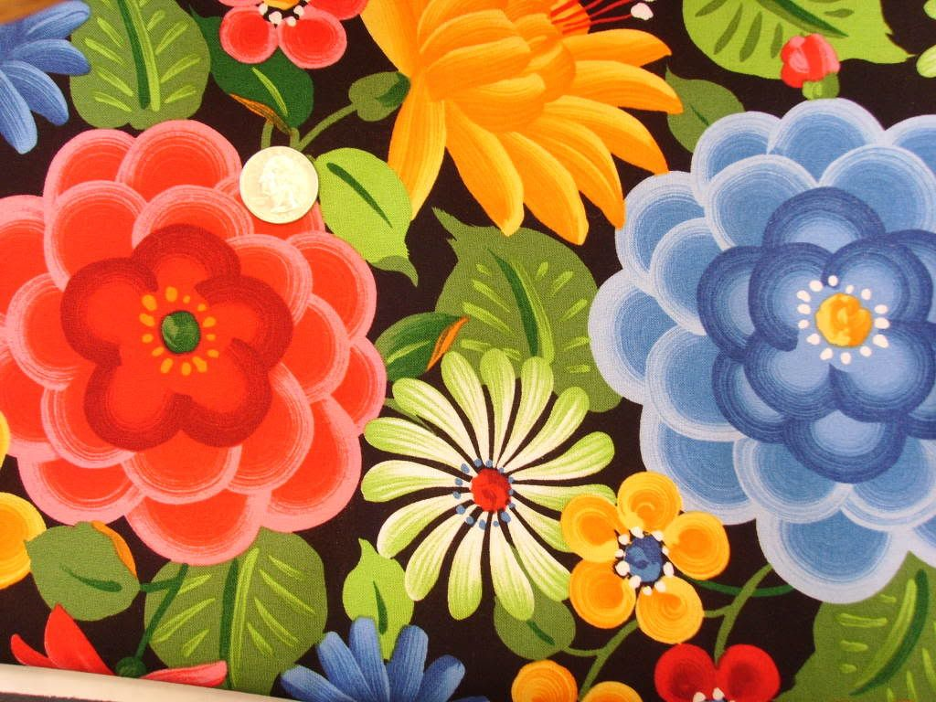 anime book fabric Mexican Flowers cotton PUL Image fabric