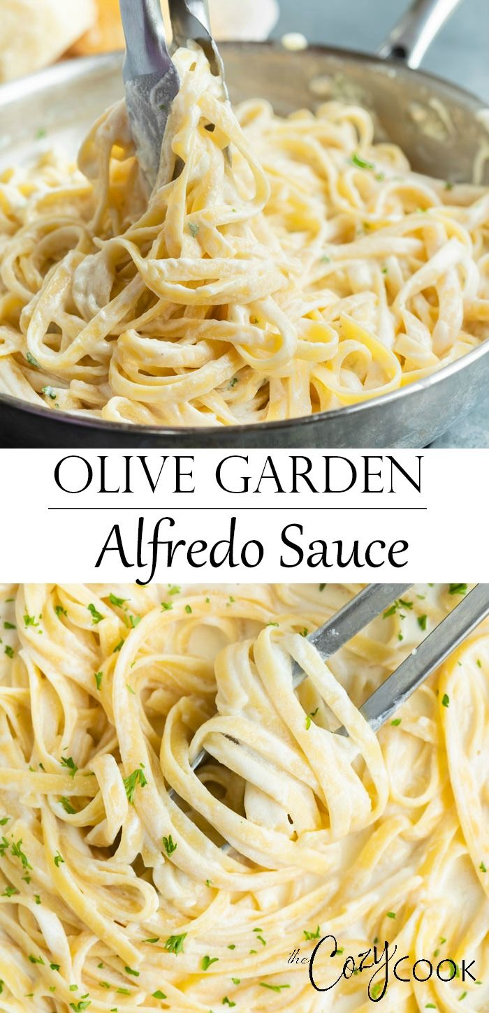 Make Olive Garden's Alfredo Sauce Recipe at home in just