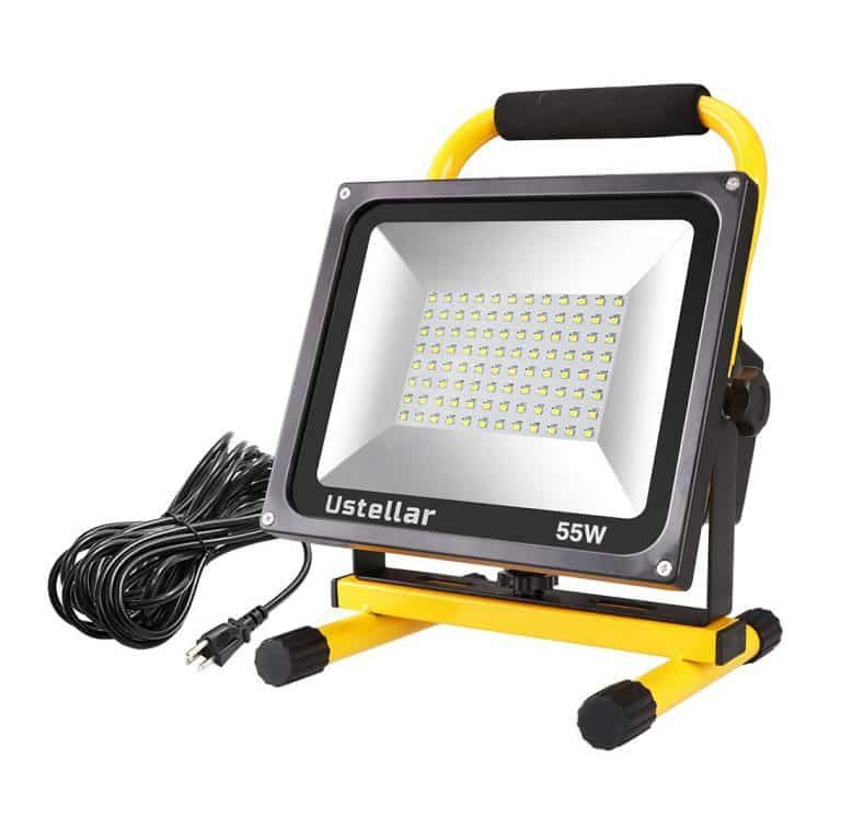 Ustellar 5500lm 55w 2 Brightness Levels Led Work Light Led Work Light Work Lights Flood Lights
