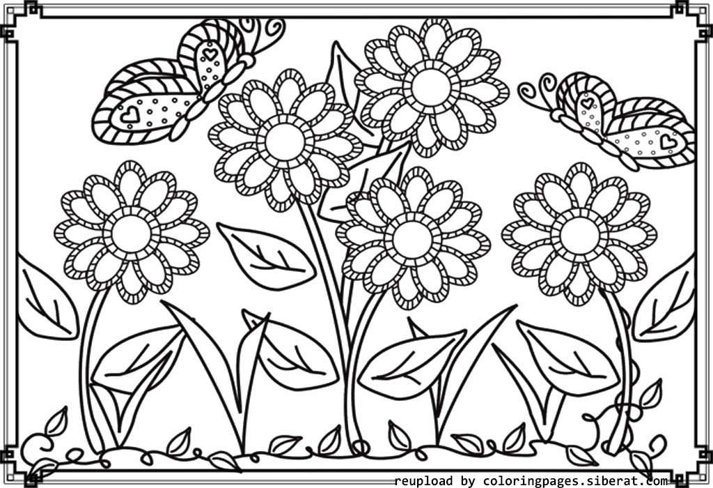 Flower Garden Colouring Pages High Quality Coloring Pages Butterfly Coloring Page Garden Coloring Pages Flower Coloring Pages