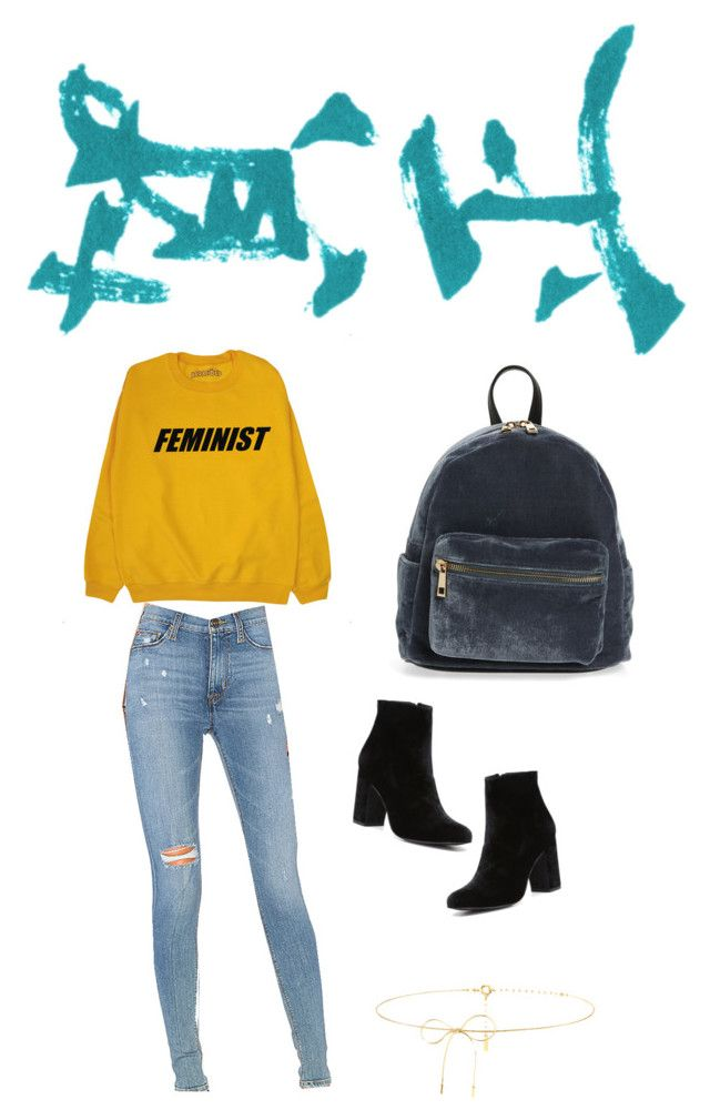 """""""She said"""" by foxescitys on Polyvore featuring Hudson Jeans, Witchery, BP. and Lilou"""