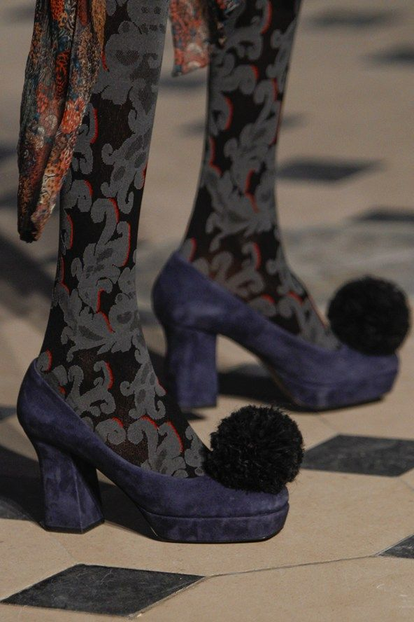 Those pom-poms are a bit much, but the stockings are fab.   Vivienne Westwood Autumn/Winter 2014-15 Ready-To-Wear Vogue UK