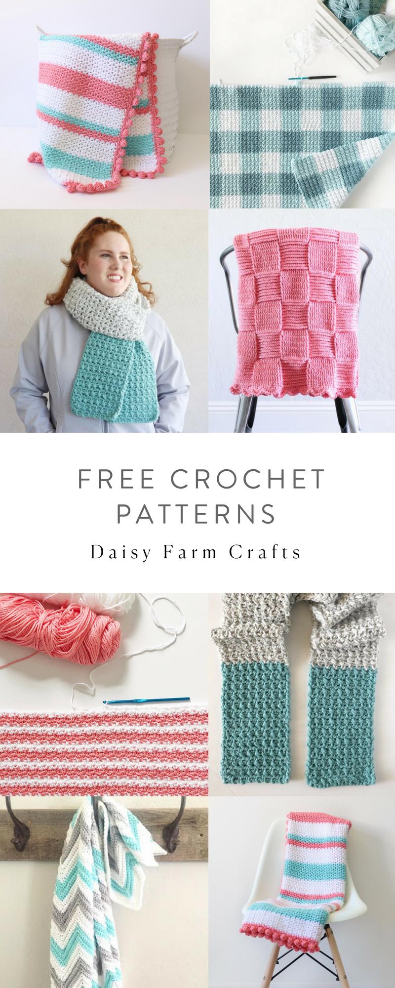 Free Crochet Patterns - Daisy Farm Crafts | tejidos | Pinterest ...