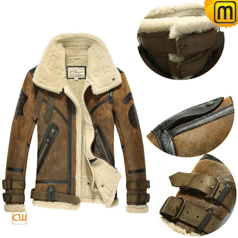 DIY Sheepskin Motorcycle Jacket for Men CW877168 | leather jacket ...
