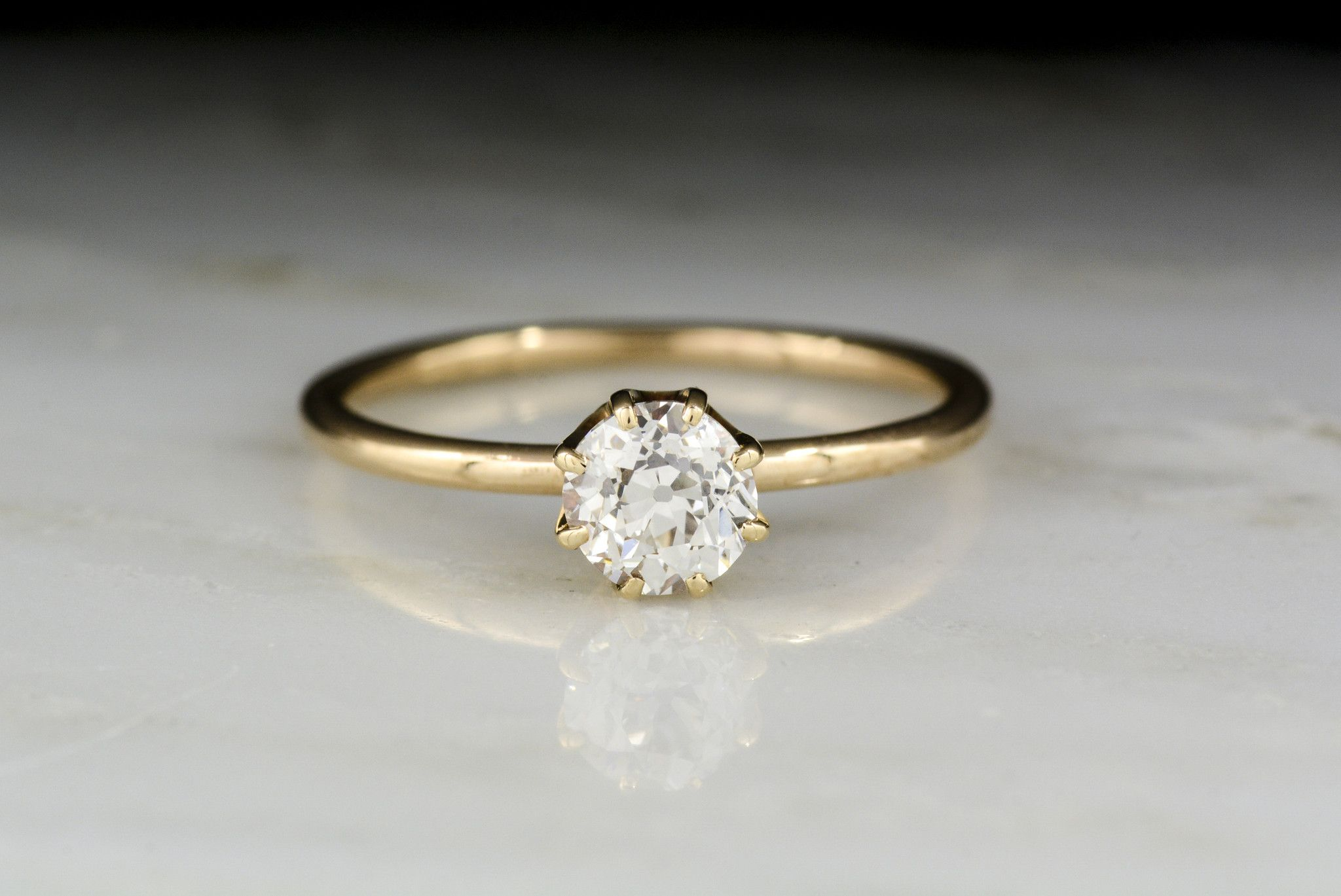 gold collections with engagement baxtermoerman ring in a cora vintage diamond yellow mine rings cut