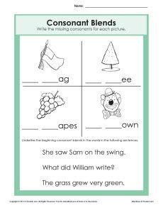 Consonant Blends Worksheets For Grade 3 Worksheets for all ...