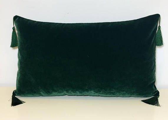 green velvet pillow. Dark Green Velvet Pillow Pillows Cover