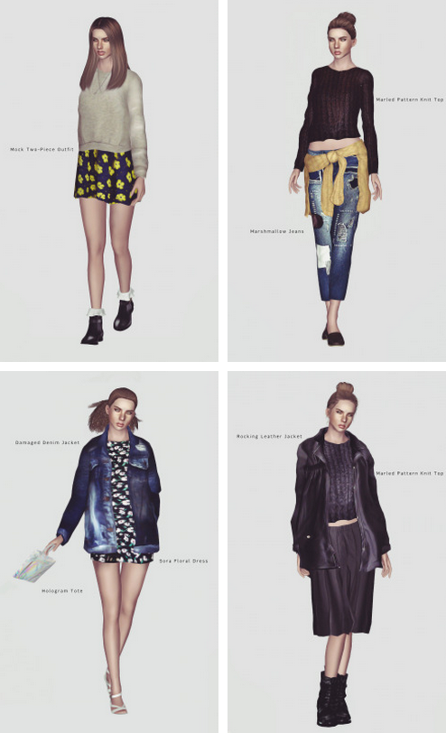 Accessories, jackets, and more!  http://momosims.tumblr.com/post/83588296108/momo-spring-2014-finally-im-uploading-the