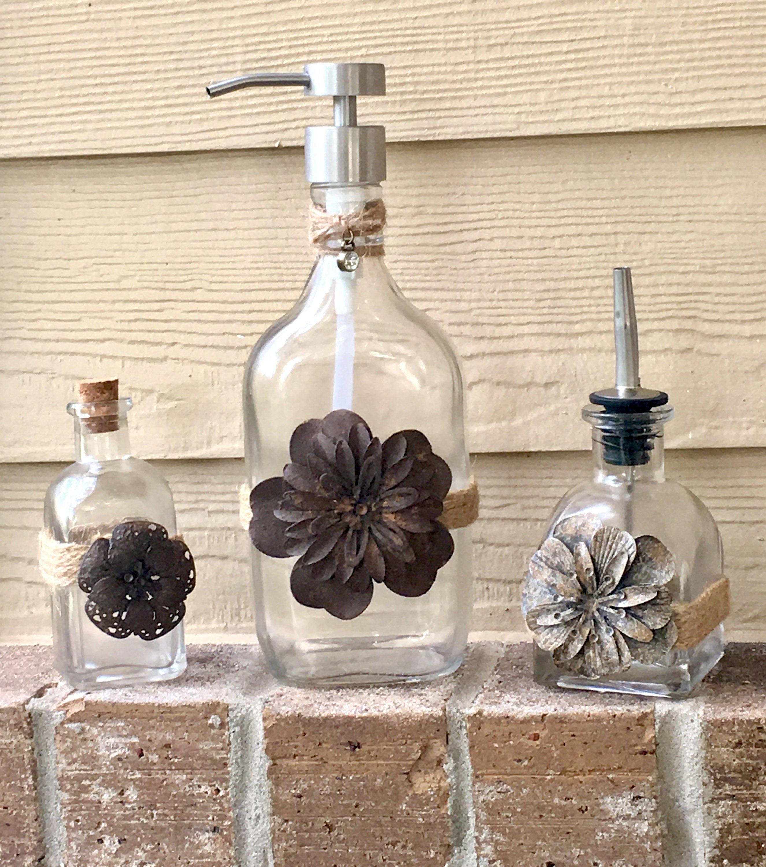 Rustic/ Farmhouse Oil/ Soap Dispensers Soap dispenser