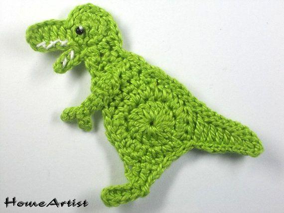 Crochet el Applique T-rex dinosaurio   muñequitos   Pinterest ...