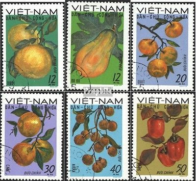 Vietnam 588-593 (complete.issue) used 1969 Locals Fruits