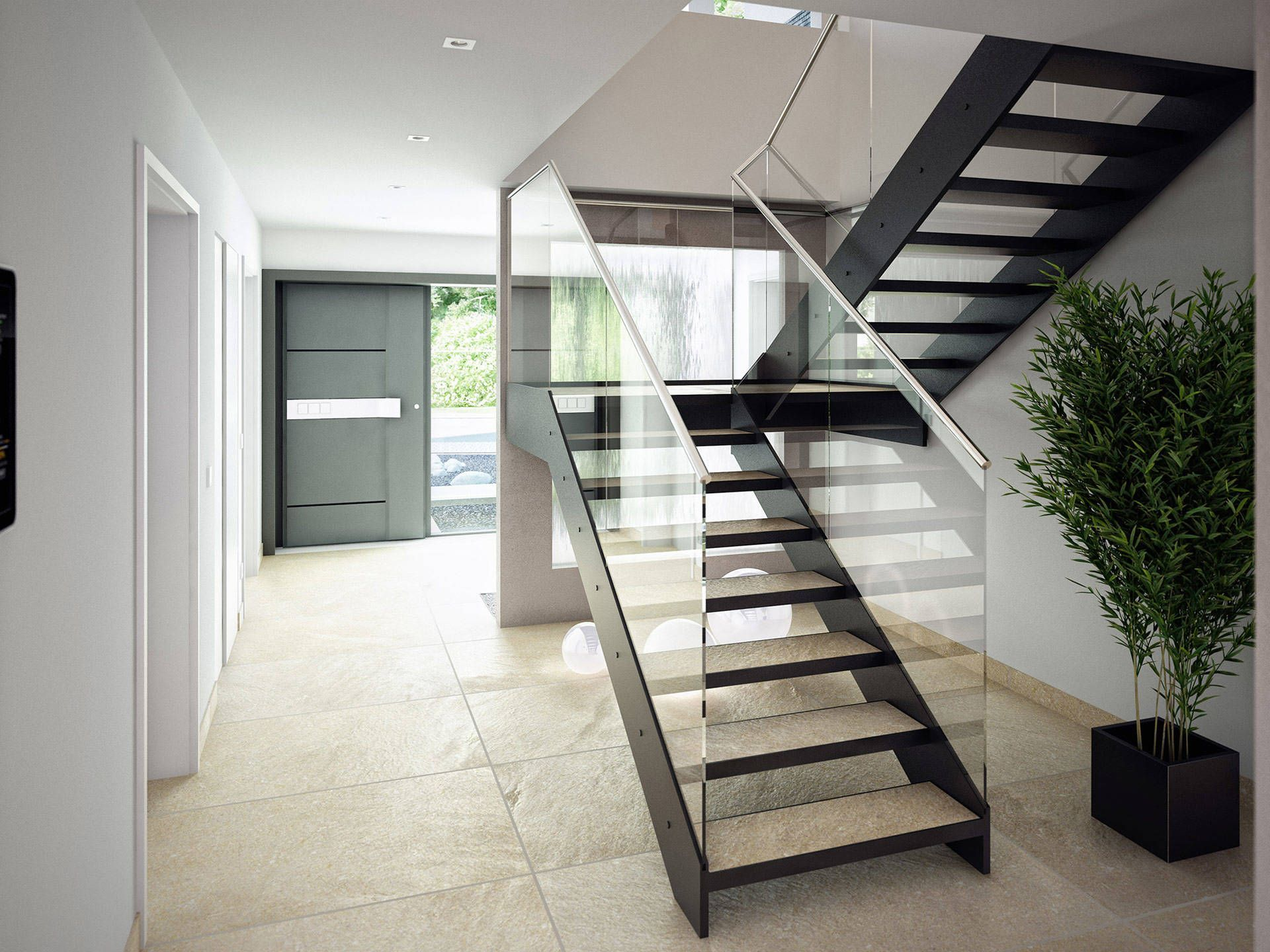 Wunderbar Treppen Teppich Modern Dekoration Von Und Eingangsbereich Loft Interiors, Heim, Classic, Sweet
