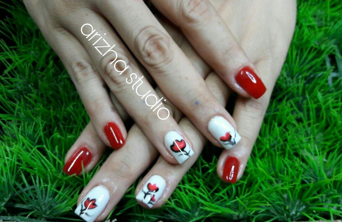 tulipanes acrilico y gel de color | mi trabajo ;) | Pinterest | De ...