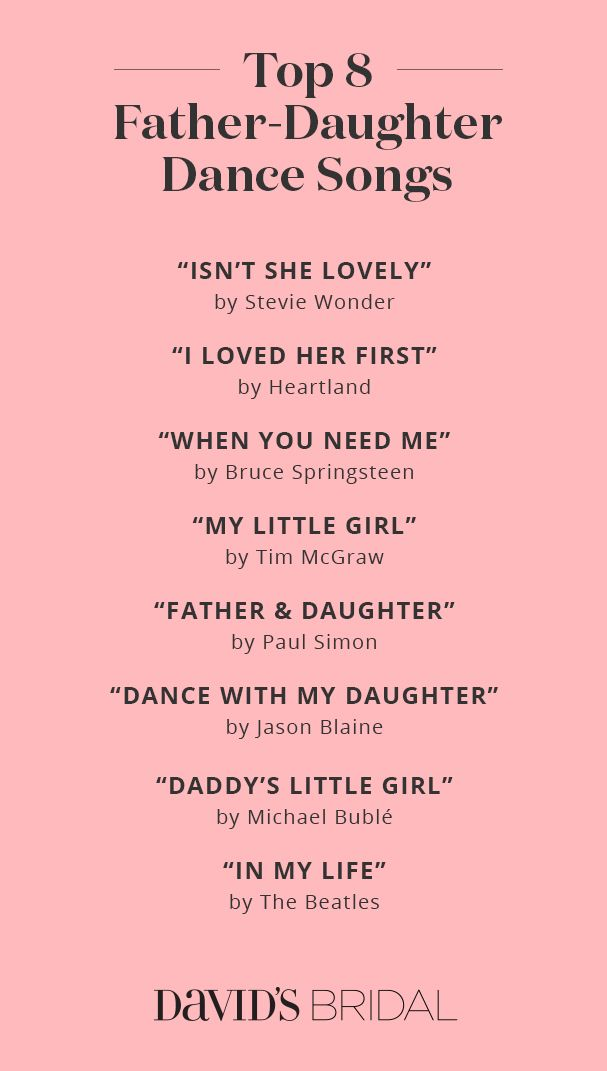 Best Father Daughter Dance Songs
