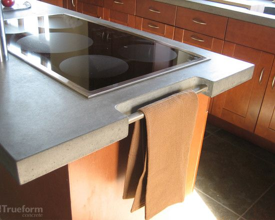 I Would Like This Towel Rack To Be Added Into The Kitchen Island Cement Countertops Design Pictures Remodel Decor And Ideas Page 4