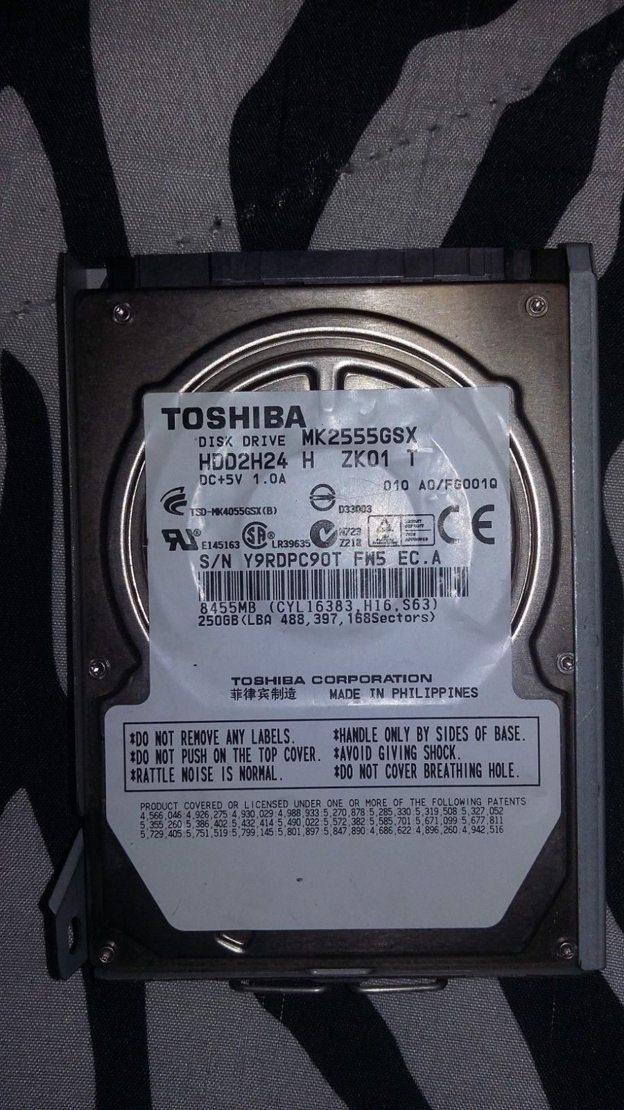Plsystation 3 Toshiba 250 GB hard drive PS3 Hard drive or