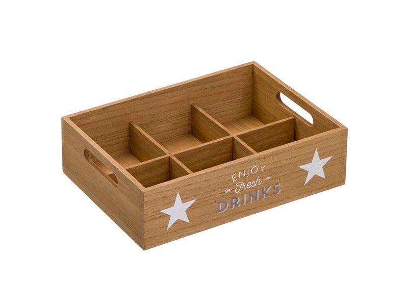 Caja De Madera Para Bebidas Drinks Estrellas Https Www