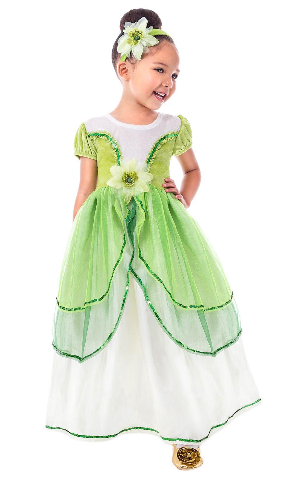 Frog Princess Tiana Replica Dress Up Costume Princess Tiana Dress Princess Costumes Girls Dress Up