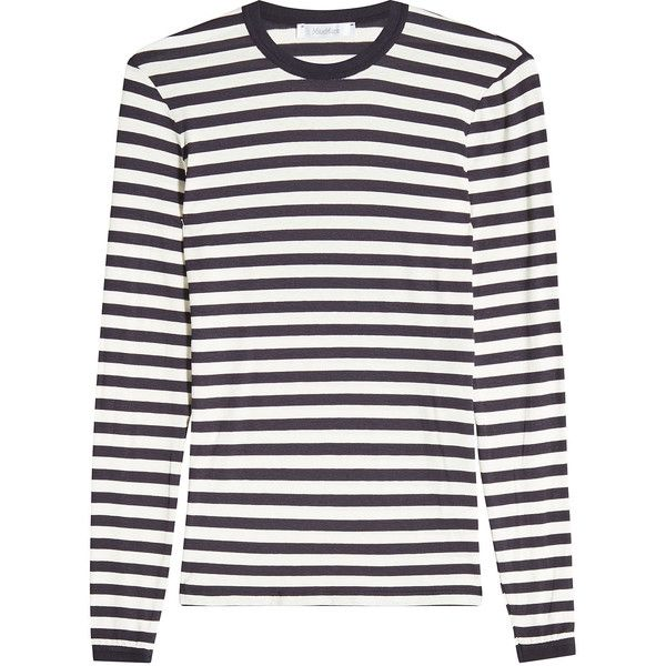 ddf172999784a Max Mara Favola Striped Top (€389) ❤ liked on Polyvore featuring tops