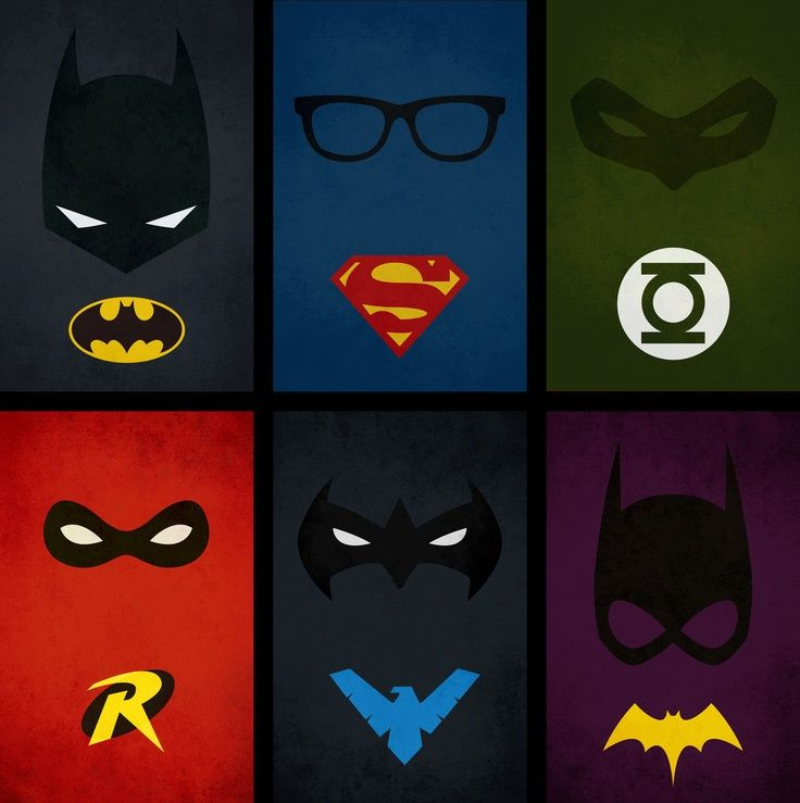 Minimalist dc comics poster designed by pandreaa for Minimal art hero