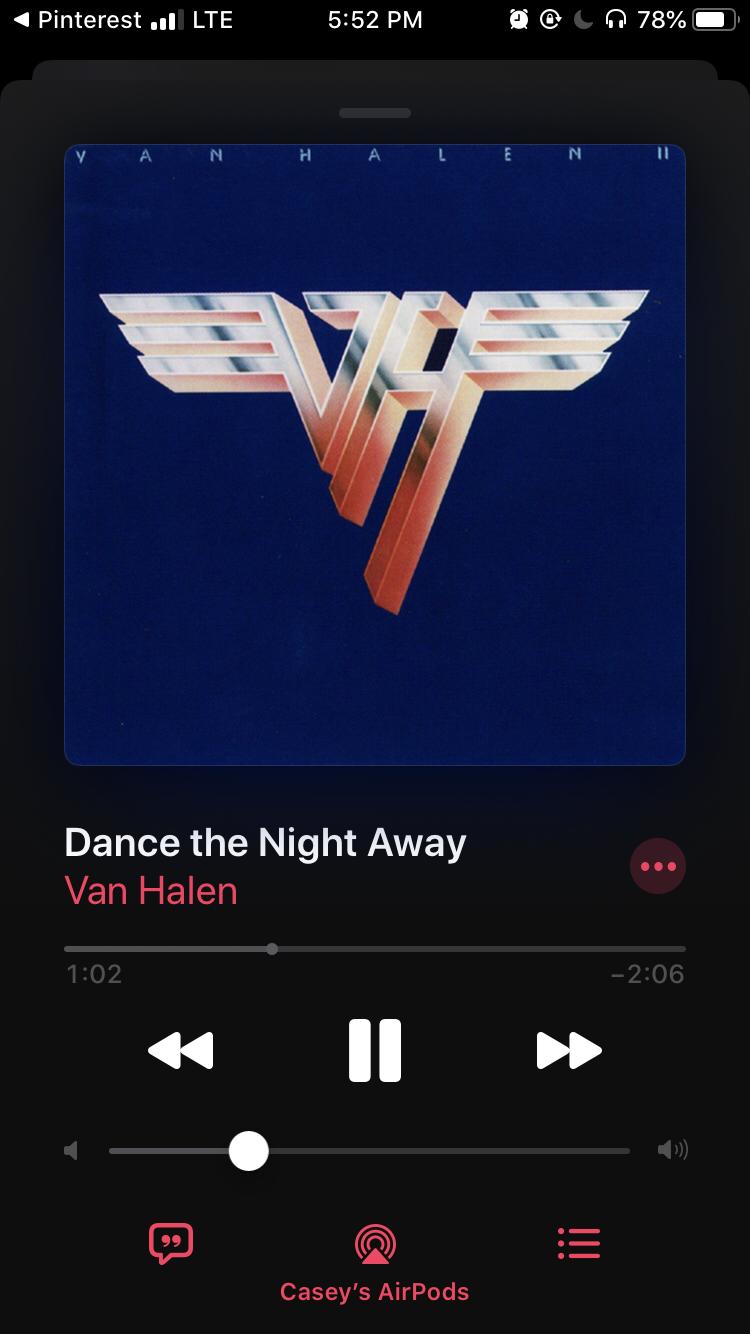 Dance The Night Away Van Halen Van Halen Van Halen 1 Dance The Night Away