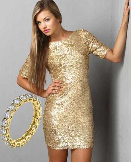 korta klänningar med paljetter