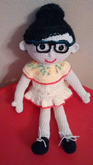 18 inch crochet doll...available in your colors..$45.
