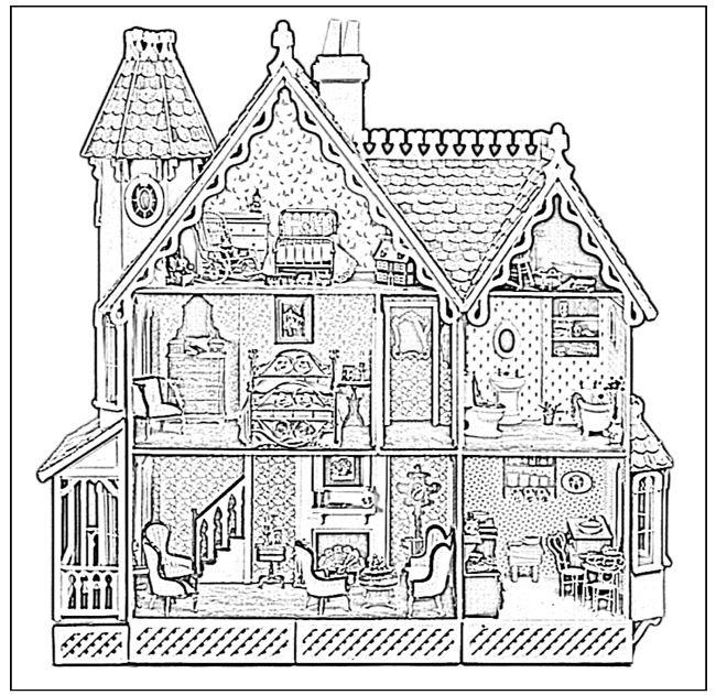 Victorian Dollhouse Coloring Pages