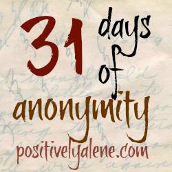31 days of anonymity {day 1 – dear coach}