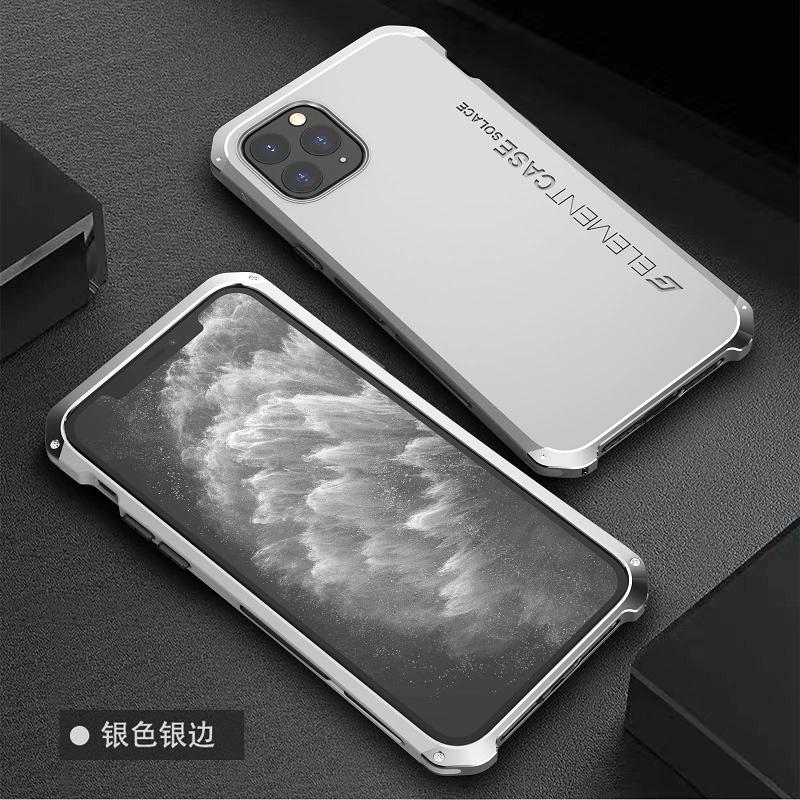 معدن الألومنيوم بومبر حقيبة لهاتف أي فون 11 حافظة الهجين Pc الغطاء الخلفي للآيفون 11 برو ماكس حافظة مضادة للصدمات كوكه Fundas في Iphone Iphone Cases Iphone 11