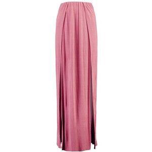 Boohoo Gisella Plain Double Split Front Maxi Skirt