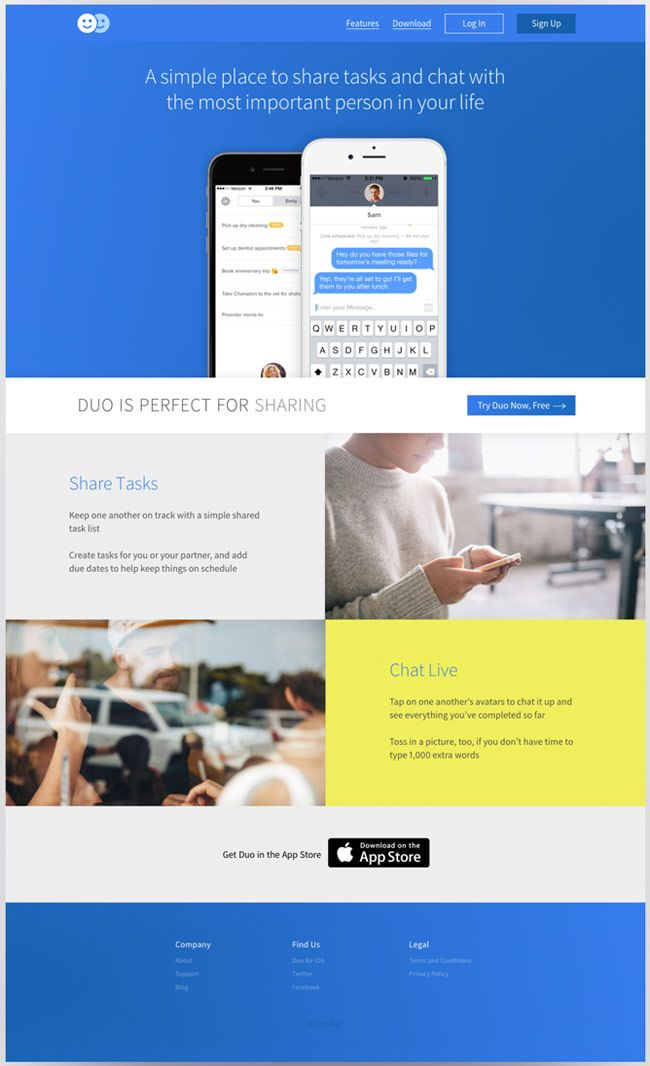 DuoHTMLAppLandingPage Free Landing Pages Pinterest - Free landing page templates html5