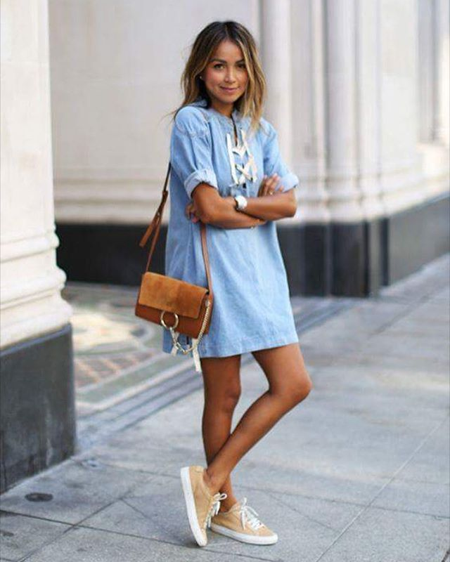 the cheapest 100% authentic low price The denim dress | Fashion, Clothes, Casual outfits