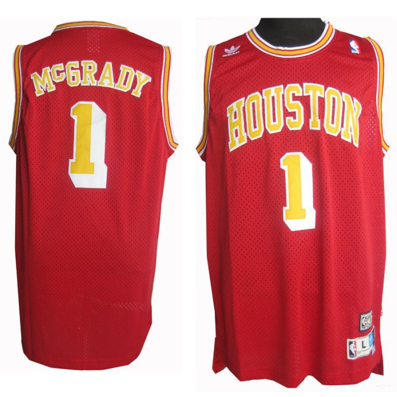 new product 2c38c 1680a Adidas NBA Houston Rockets 1 Tracy McGrady Soul Swingman Red ...
