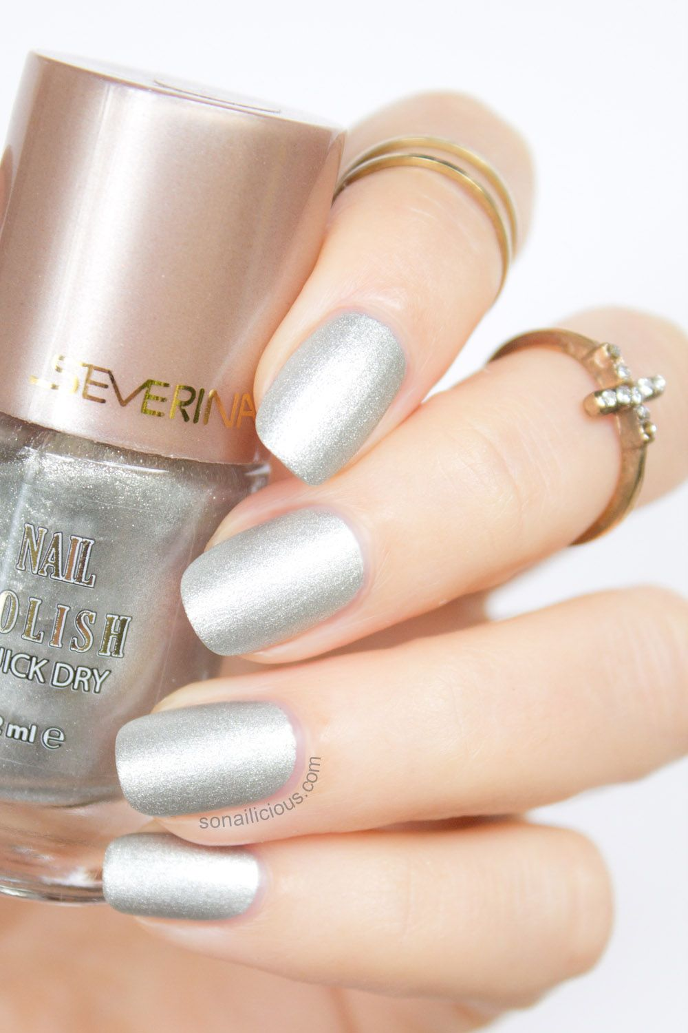 Stunning MATTE Silver Nails Polish. Exclusively At