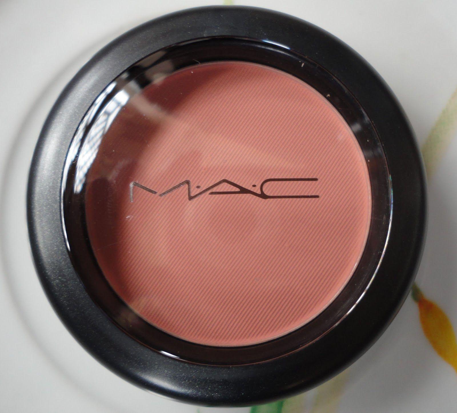 Top MAC Melba Blush all matte rosey peach looks good on everyone  MH56