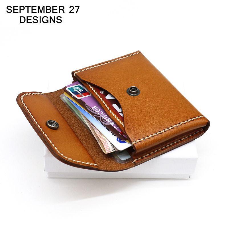 Coin Purses Business Card Case Genuine leather Men Mini Purse Women ...