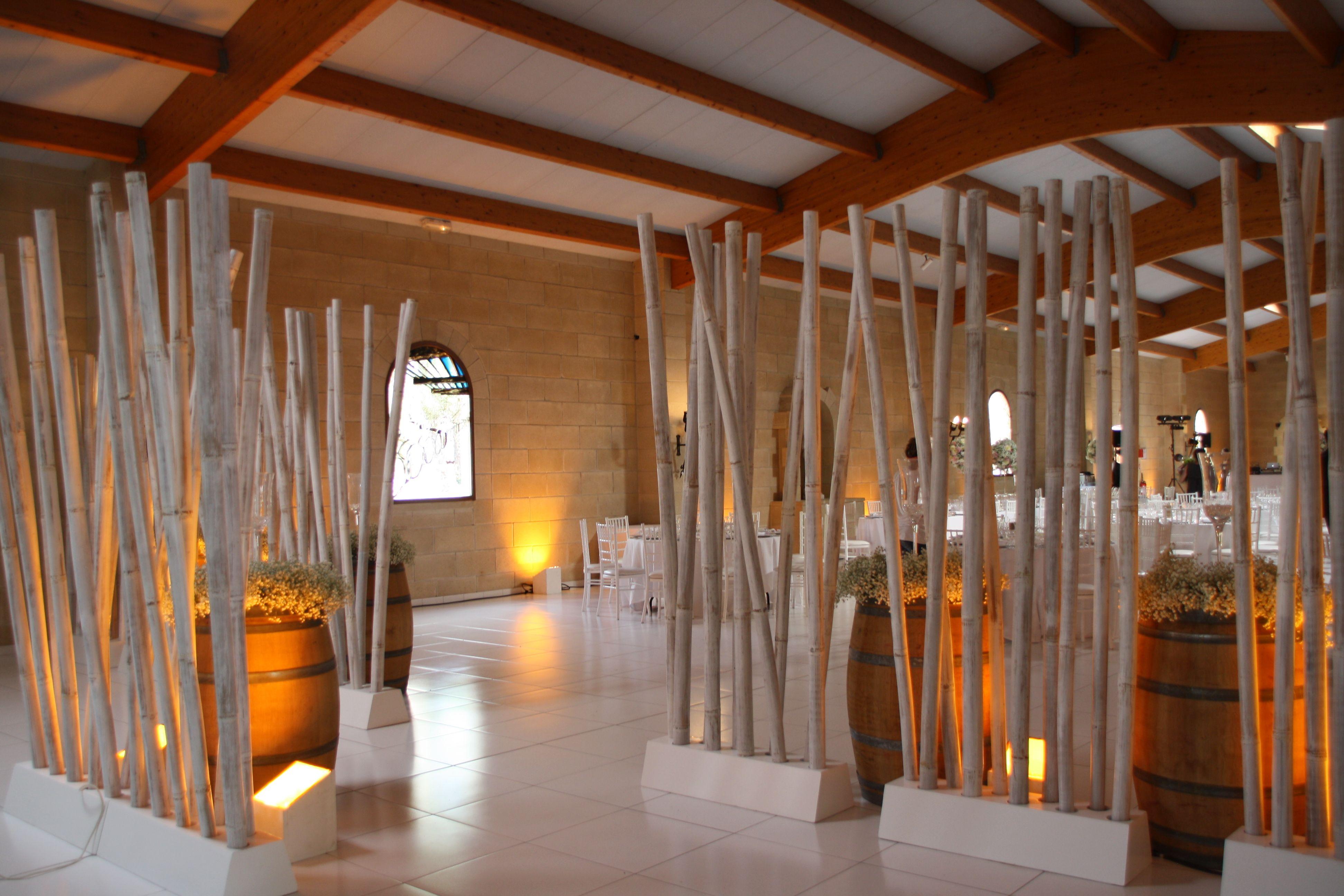 S Parations Bambou H250Cm Dispos Es En All E Pour