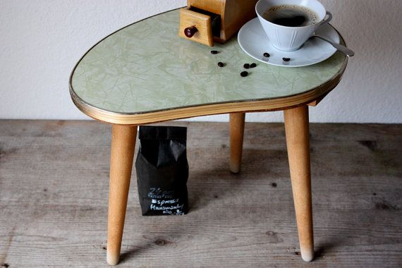 Vintage Kidney Table Small Coffee Table Side Table