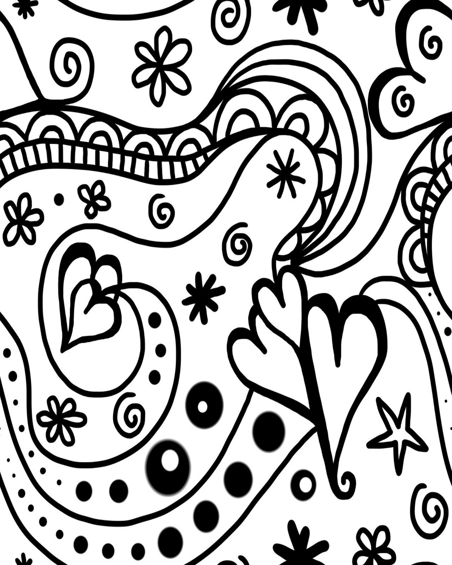 Free Printable Groovy Hearts Coloring Page for Valentine\'s Day ...