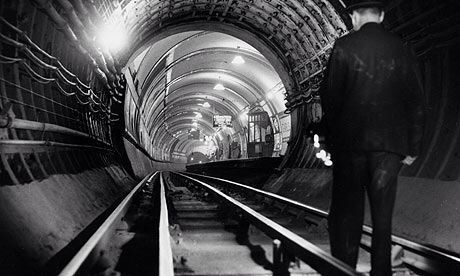 Underground London tunnels.