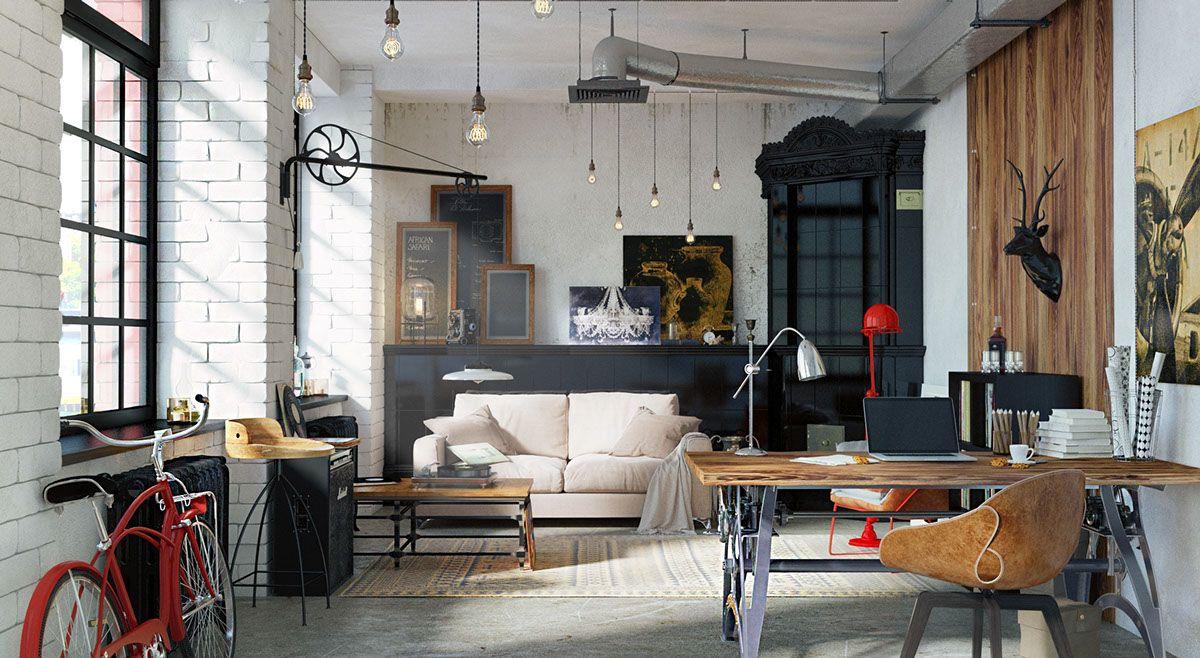 Stylish Exposed Brick Wall Lofts Brick Wall Living Room Loft Inspiration Loft Style Living