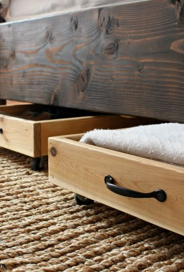 DIY Cedar Underbed Storage & DIY Cedar Underbed Storage | Pinterest | Storage Bedrooms and Bed ...