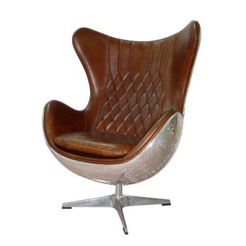 Fauteuil cuir marron vintage meubles Pinterest