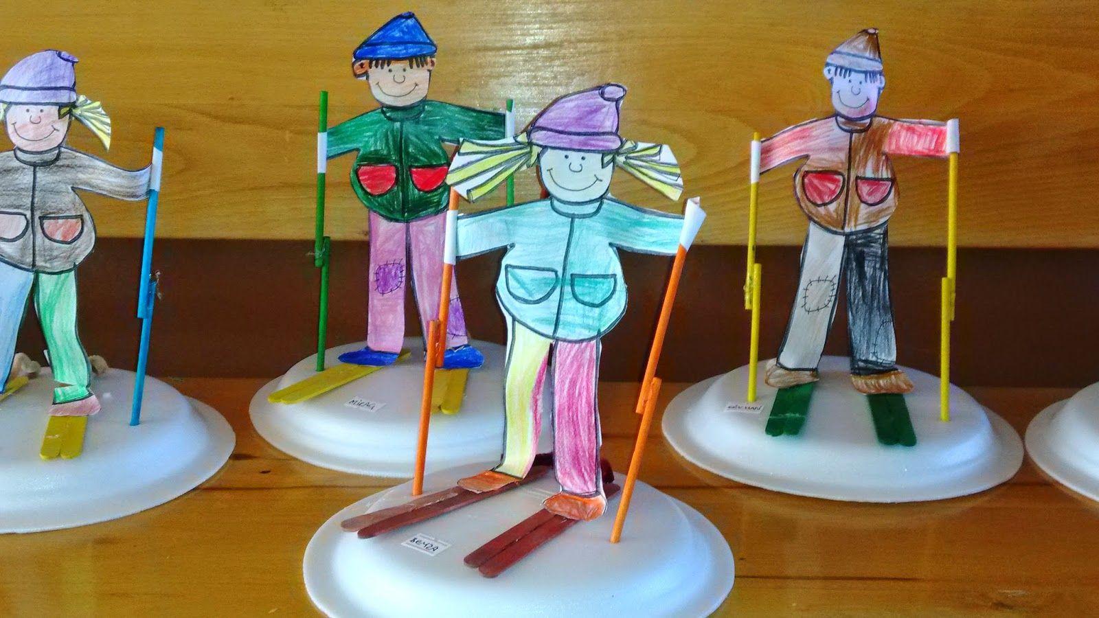 Kayak Yapan çocuklar Okul öncesi çocuklar Için çok Güzel Bir