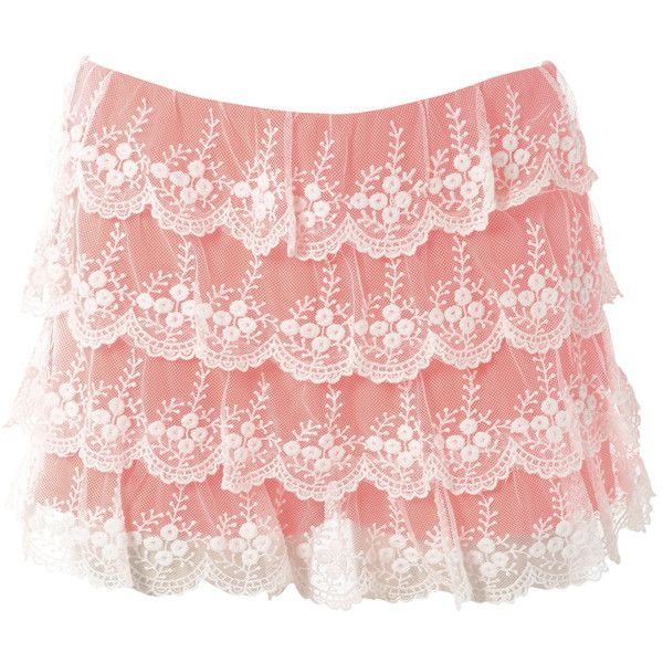 AX Paris Neon Lace Shorts ($22) ❤ liked on Polyvore featuring shorts, pants, bottoms, pink, skirts, neon shorts, neon pink shorts, ax paris, short shorts and pink lace shorts