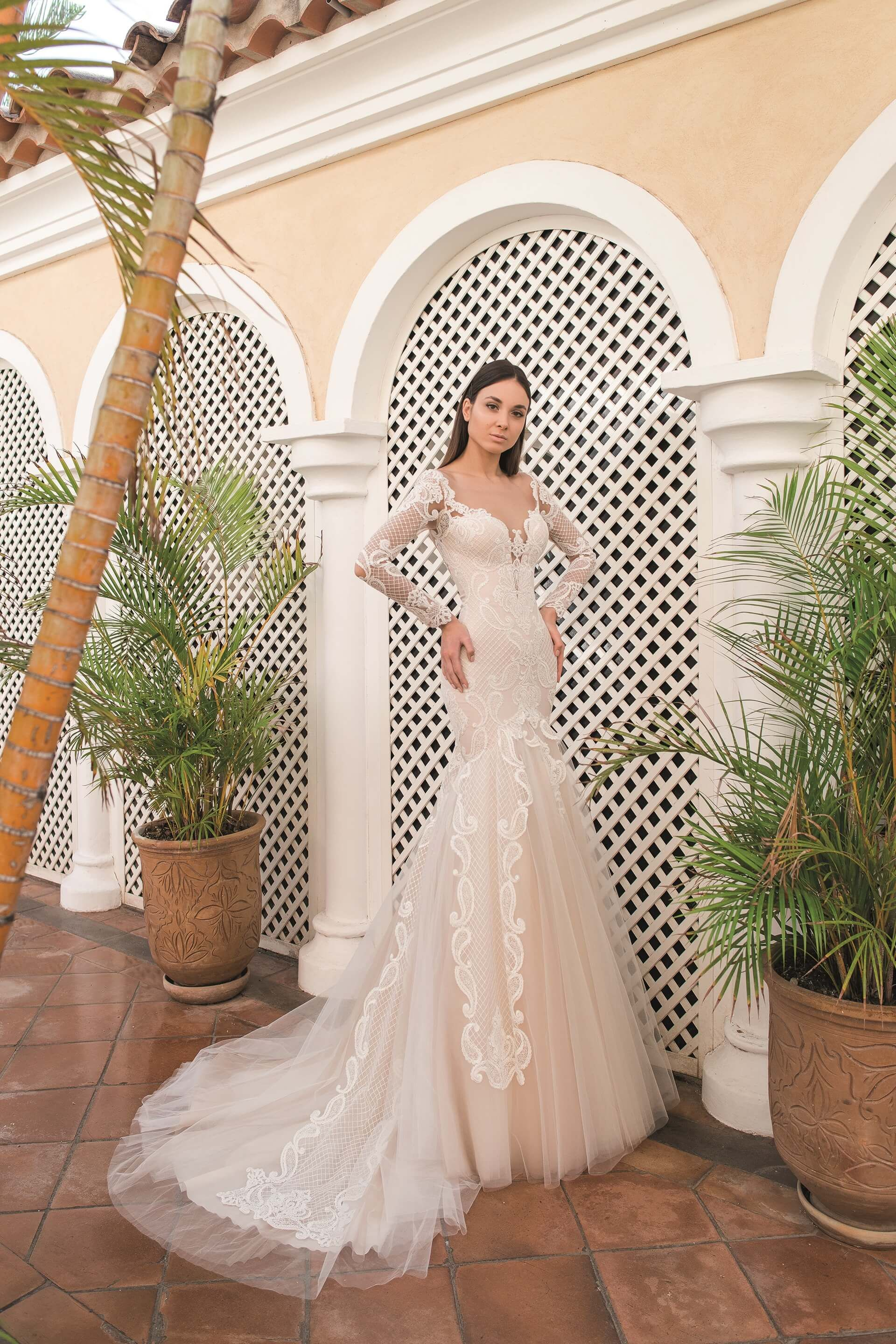 e57e8168d53 GUSTAVA wedding dress by OKSANA MUKHA ONLY at Charmé Gaby Bridal Gown  boutique Tampa Bay FL