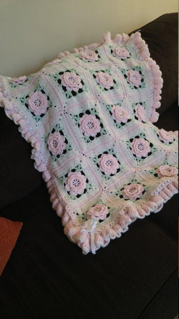 Couverture de bébé roses
