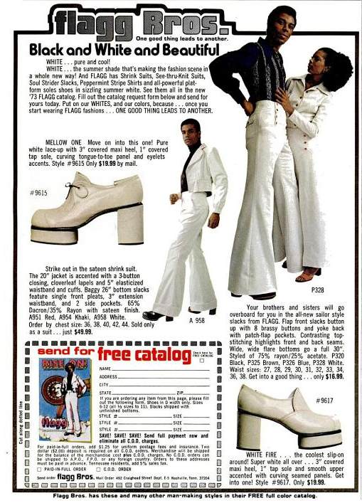 1987216dfcd Flagg Bros. Platform shoes and Suits - Ebony Magazine May 1973 (70 s bell  bottoms)