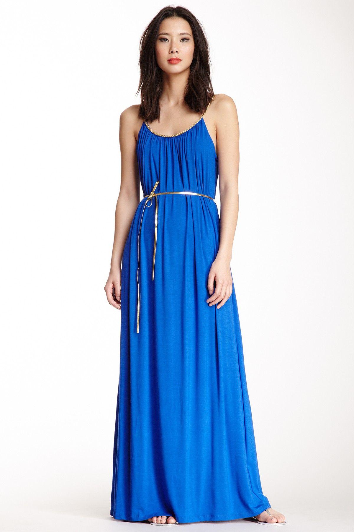 Tiana b gold trim maxi dress dresses pinterest tiana maxi